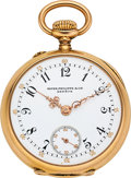 Timepieces:Pocket (post 1900), Patek Philippe & Cie Lady's Gold Pendant Watch. ...