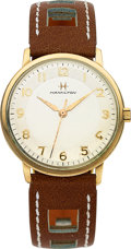 Timepieces:Wristwatch, Hamilton, Boatswain II, 10K Yellow Rolled Gold Plate and S...