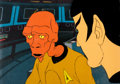Animation Art:Production Cel, Star Trek: The Animated Series Arex and Spock Production CelSetup(Filmation, 1974)....