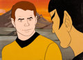 Animation Art:Production Cel, Star Trek: The Animated Series Kirk and Spock Production CelSetup (Filmation, 1974)....