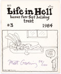 Modern Age (1980-Present):Alternative/Underground, Life In Hell #3 Limited Numbered 1984 Reprint #59/100 (Matthew A.Groening, 1984) Condition: FN/VF....