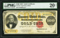 Large Size:Gold Certificates, Fr. 1215 $100 1922 Gold Certificate PMG Very Fine 20 Net.. ...