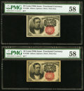 Fractional Currency:Fifth Issue, Fr. 1266 10¢ Fifth Issue Two Examples PMG Choice About Unc 58.. ...(Total: 2 notes)