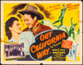"""Movie Posters:Western, Out California Way & Other Lot (Republic, 1946). Folded, Overall Grade: Fine/Very Fine. Half Sheet (22"""" X 28"""") Style B, & On... (Total: 2 Items)"""