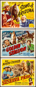 """Movie Posters:Western, Susanna Pass & Others Lot (Republic, 1949). Very Fine-. TitleLobby Cards (3) (11"""" X 14"""") & Uncut Pressbook (10 Pages, 12""""X... (Total: 4 Items)"""