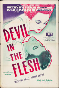 """Devil in the Flesh (AFE, 1947). Folded, Fine/Very Fine. One Sheet (27"""" X 41""""). Hap Haley Artwork. Foreign"""