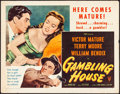 "Movie Posters:Crime, Gambling House (RKO, 1951). Folded, Fine/Very Fine. Half Sheet (22"" X 28"") Style B. Crime.. ..."