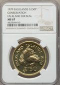 "Falkland Islands, Falkland Islands: British Colony. Elizabeth II gold ""Falkand Fur Seal"" 150 Pounds 1979 MS67 NGC,..."