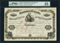 Canadian Currency, Dominion of Canada, Department of Interior $80 Land Bond 23.1.1886PMG Choice Extremely Fine 45.. ...