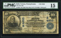National Bank Notes:Pennsylvania, Belle Vernon, PA - $10 1902 Plain Back Fr. 629 The First NB Ch. # (E)4850 PMG Choice Fine 15.. ...