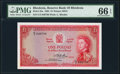 World Currency, Rhodesia Reserve Bank of Rhodesia 1 Pound 7.9.1964 Pick 25a PMG Gem Uncirculated 66 EPQ.. ...