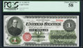 Large Size:Legal Tender Notes, Fr. 16 $1 1862 Legal Tender PCGS Choice About New 58.. ...