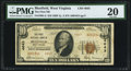 National Bank Notes:West Virginia, Bluefield, WV - $10 1929 Ty. 2 The First NB Ch. # 4643 PMG VeryFine 20.. ...