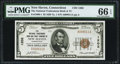 National Bank Notes:Connecticut, New Haven, CT - $5 1929 Ty. 1 The National Tradesmen's Bank and Trust Company Ch. # 1202 PMG Gem Uncirculated 66 EPQ....