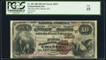 National Bank Notes:Kansas, Chanute, KS - $10 1882 Brown Back Fr. 483 The First NB Ch. # (W)3819 PCGS Fine 15.. ...