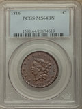 1816 1C N-2, R.1, MS64 Brown PCGS....(PCGS# 36526)
