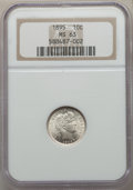 Barber Dimes: , 1895 10C MS63 NGC. NGC Census: (17/40). PCGS Population: (15/72).CDN: $775 Whsle. Bid for problem-free NGC/PCGS MS63. Mint...