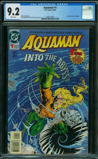 Aquaman #1 (DC, 1994) CGC NM- 9.2 WHITE pages