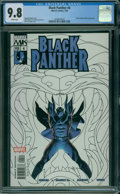 Modern Age (1980-Present):Superhero, Black Panther #4 (Marvel, 2005) CGC NM/MT 9.8 WHITE pages.