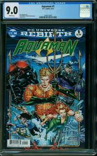 Aquaman #1 (DC, 2016) CGC VF/NM 9.0 WHITE pages