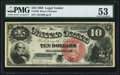 Fr. 103 $10 1880 Legal Tender PMG About Uncirculated 53
