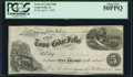 Obsoletes By State:Iowa, Cedar Falls, IA- Town of Cedar Falls $5 Post Note Apr. 1, 1858Oakes 21-4 (2015) PCGS About New 50PPQ.. ...