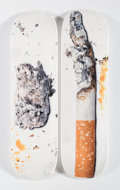Prints & Multiples, Supreme X Urs Fischer. Cigarette (two works), 2016. Offset lithographs in colors on skate deck. 32 x 8 inches (81.3 x 20... (Total: 2 Items)