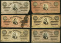 Confederate Notes:1864 Issues, T65 $100 1864;. T66 $50 1864 (16).. Very Good or Better.. ... (Total: 17 notes)