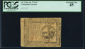 Continental Currency May 10, 1775 $2 PCGS Extremely Fine 45