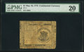 Continental Currency May 10, 1775 $1 PMG Very Fine 20
