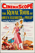 """Movie Posters:Documentary, The Royal Tour of Queen Elizabeth and Philip (20th Century Fox, 1954). Folded, Very Fine-. One Sheet (27"""" X 41""""). Documentar..."""