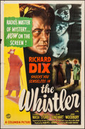 """Movie Posters:Mystery, The Whistler (Columbia, 1944). Folded, Fine. One Sheet (27"""" X 41"""").Mystery.. ..."""