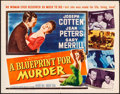 "Movie Posters:Crime, A Blueprint for Murder (20th Century Fox, 1953). Folded, VeryFine-. Half Sheet (22"" X 28""). Crime.. ..."