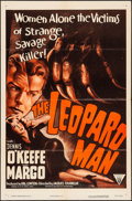 """Movie Posters:Horror, The Leopard Man & Other Lot (RKO, R-1952). Folded, Fine/Very Fine. One Sheet (27"""" X 41"""") & Lobby Card (11"""" X 14""""). Horror.. ... (Total: 2 Items)"""