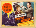 """Movie Posters:Mystery, Trade Winds (Masterpiece Productions, R-1948). Folded, Fine-. Half Sheet (22"""" X 28""""). Mystery.. ..."""