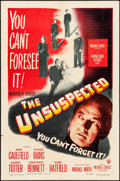 """Movie Posters:Film Noir, The Unsuspected & Other Lot (Warner Brothers, 1947). Folded, Fine/Very Fine. One Sheet (27"""" X 41"""") & Lobby Card (11"""" X 14"""").... (Total: 2 Items)"""