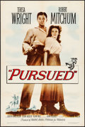 "Movie Posters:Western, Pursued (Warner Brothers, 1947). Folded, Very Fine-. One Sheet (27"" X 41""). Western.. ..."