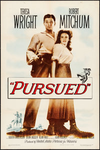 """Pursued (Warner Brothers, 1947). Folded, Very Fine-. One Sheet (27"""" X 41""""). Western"""