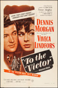 """Movie Posters:Drama, To the Victor (Warner Bros., 1948). Folded, Fine/Very Fine. One Sheet (27"""" X 41""""). Drama.. ..."""