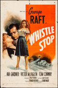 Movie Posters:Drama, Whistle Stop (United Artists, 1945). Folded, Fine.
