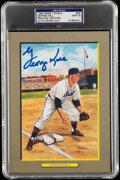 Autographs:Post Cards, 1990 #59 George Kell Signed Perez-Steele Great Moments, PSA/DNA MT 9....