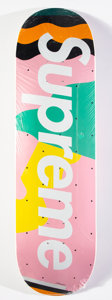 Prints & Multiples, Supreme X Alessandro Medini. Medini Skate deck (Pink), 2016. Offset lithograph in colors on skate deck. 32 x 8 inches (8...