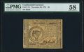 Colonial Notes:Continental Congress Issues, Continental Currency November 29, 1775 $8 PMG Choice About Unc 58.. ...