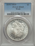 1878 7/8TF $1 Weak MS65 PCGS. PCGS Population: (197/16). NGC Census: (5/0). CDN: $650 Whsle. Bid for problem-free NGC/PC...