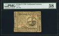 Colonial Notes:Continental Congress Issues, Continental Currency May 9, 1776 $2 PMG Choice About Unc 58.. ...