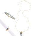 Estate Jewelry:Suites, Blue Topaz, Diamond, Gold Jewelry Suite . ... (Total: 3 Items)