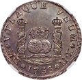 Mexico, Mexico: Philip V Milled 4 Reales 1733 MX-MF MS63 NGC,...