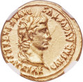 Ancients:Roman Imperial, Ancients: Augustus (27 BC-AD 14). AV aureus (21mm, 7.83 gm, 12h). NGC AU 5/5 - 2/5, edge marks....