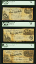Obsoletes By State:Iowa, Cedar Falls, IA- Town of Cedar Falls $2; $3; $5 Post Notes 1858 Oakes 21-2; 21-3; 21-4 (2015) PCGS Fine 15 or better.. ... (Total: 3 notes)