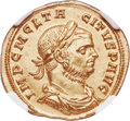 Ancients:Roman Imperial, Ancients: Tacitus (AD 275-276). AV aureus (21mm, 4.31 gm, 5h). NGC MS ★ 5/5 - 4/5....